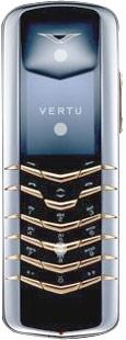 Мобильный телефон Vertu Signature Stainless Steel with Yellow Metal Tips